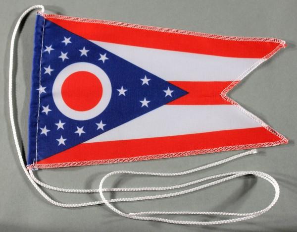 Tischflagge Ohio USA Bundesstaat US State 25x15 cm optional mit Holz- oder Chromständer Tischfahne T