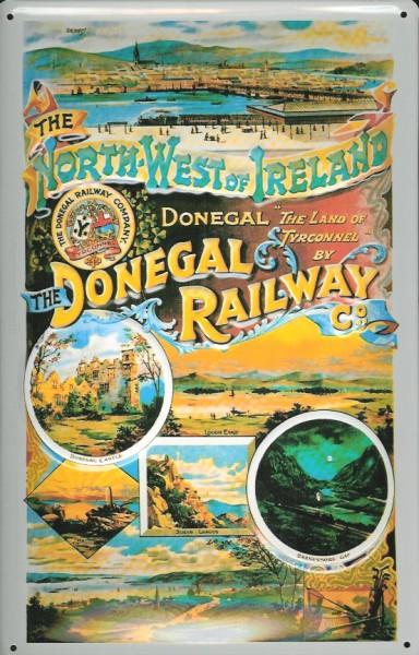 Blechschild Nostalgieschild Donegal Ireland Railway Eisenbahn Irland