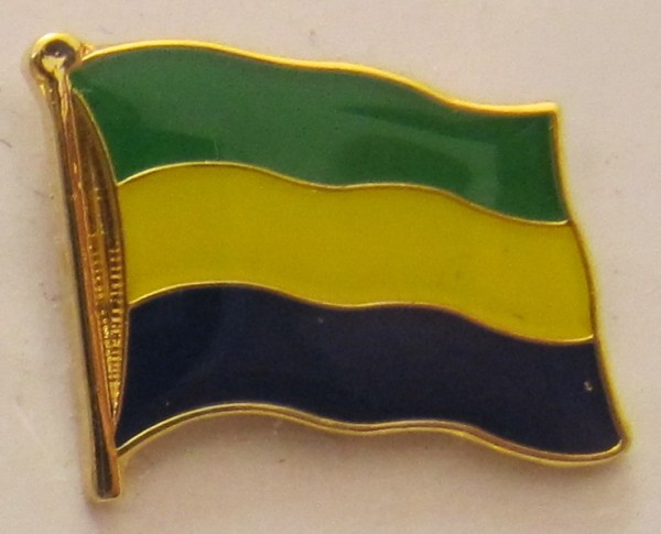 Gabun Pin Anstecker Flagge Fahne Nationalflagge