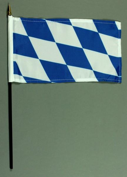 Tischflagge Bayern nur Raute 15x25 cm BASIC optional mit Tischflaggenständer