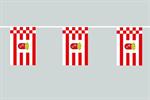 Bremen Flaggenkette 6 Meter / 8 Flagge Fahne