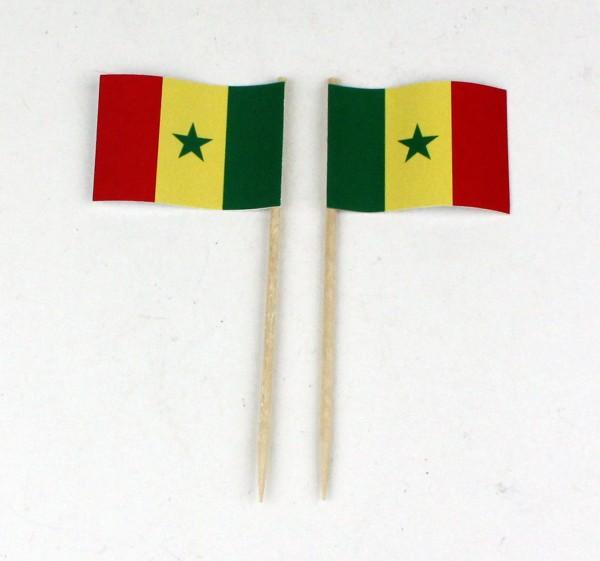 Party-Picker Flagge Senegal Papierfähnchen in Spitzenqualität 50 Stück Beutel