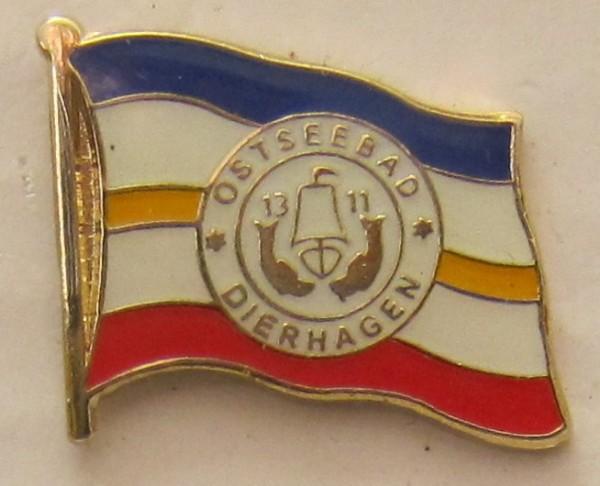 Pin Anstecker Flagge Fahne Dierhagen Ostsee Stadtflagge Flaggenpin Button Badge Flaggen Clip Ansteck