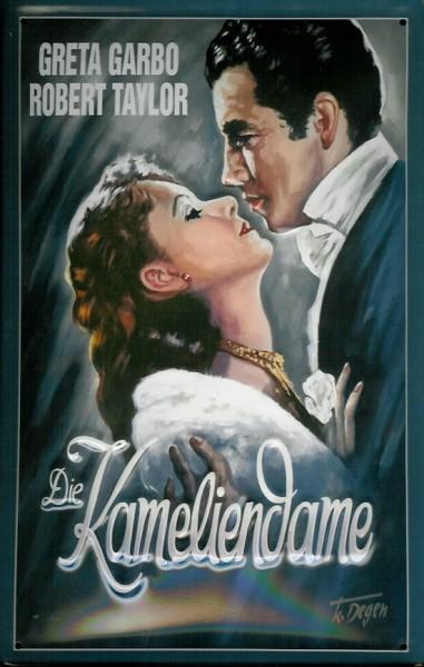 Blechschild Kameliendame Greta Garbo Filmplakat Werbeschild Schild Nostalgieschild