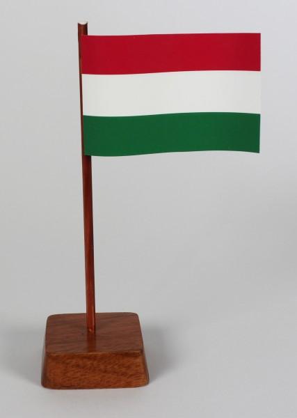 Mini Tischflagge Ungarn Höhe 13 cm Tischfähnchen