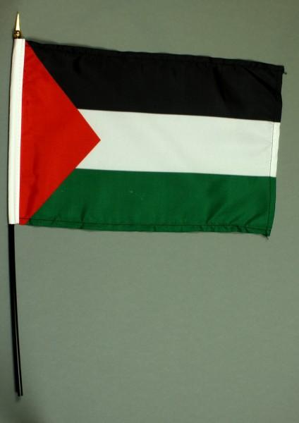 Tischflagge Palästina 20x30 cm optional mit Tischflaggenständer aus Mahagoni Holz