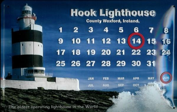 Blechschild Nostalgieschild Hook Leuchtturm Irland Lighthouse Schild Magnet Kalender