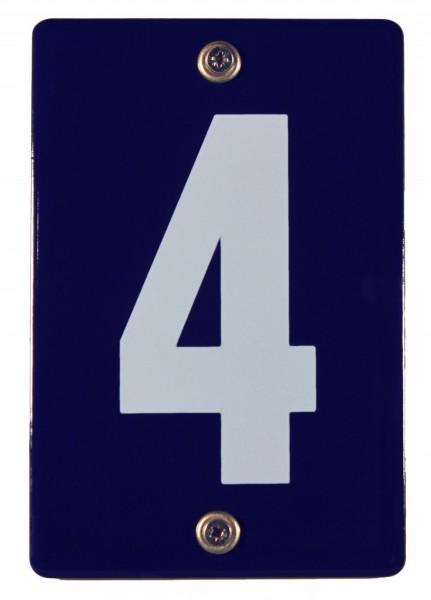 Hausnummernschild 4 Emaille Hausnummer Schild Haus Nummer Zahl Ziffer Metallschild