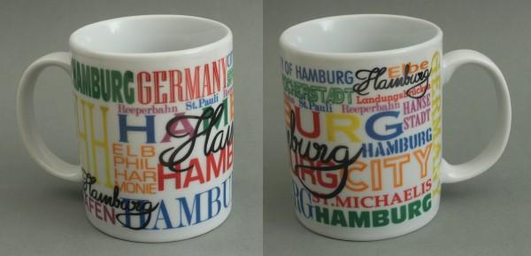 Hamburg Kaffeebecher weiss Souvenir Kaffeetasse Kaffee Becher Andenken
