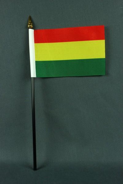 Kleine Tischflagge Bolivien 10x15 cm optional mit Tischfähnchenständer