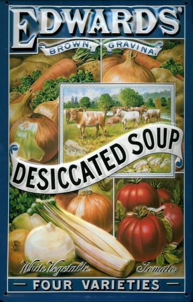 Blechschild Edwards Desiccated Soup Suppe Gemüsesuppe Schild
