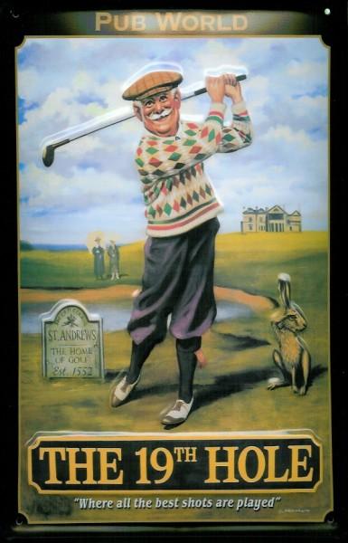Blechschild Nostalgieschild The 19th Hole Golf