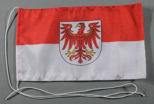 Tischflagge Brandenburg 25x15 cm optional mit Holz- oder Chromständer Tischfahne Tischfähnchen