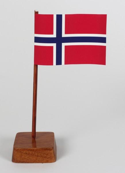 Mini Tischflagge Norwegen Höhe 13 cm Tischfähnchen