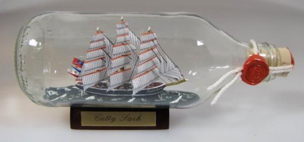 Cutty Sark runde Flasche 0,3 Liter Buddelschiff Flaschenschiff