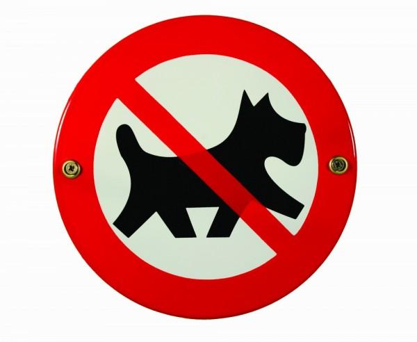 Hinweis-Schild: Hunde verboten