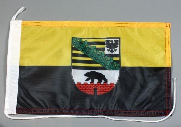 Bootsflagge : Sachsen Anhalt 30x20 cm Motorradflagge