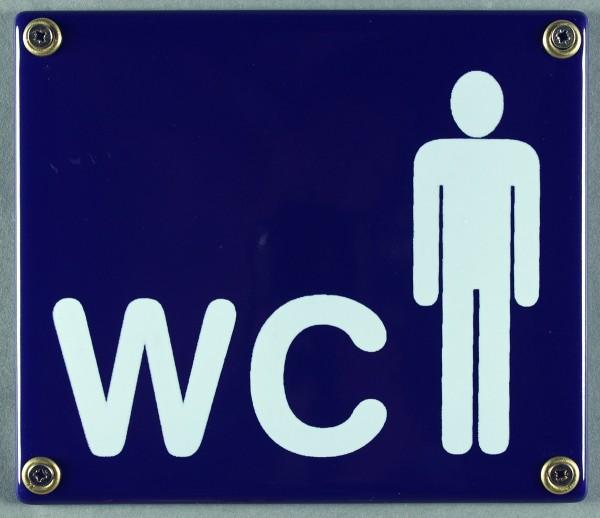 Emaille Schild WC Herren Toilette Herrentoilette Emailleschild Kloschild