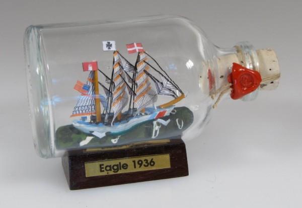 Eagle - US Coastguaed Mini Buddelschiff 50 ml ca. 7,2 x 4,5 cm Flaschenschiff