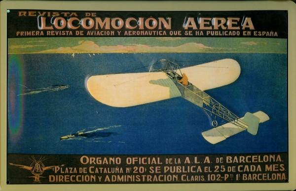 Blechschild Nostalgieschild : Locomotion Aerea Barcelona