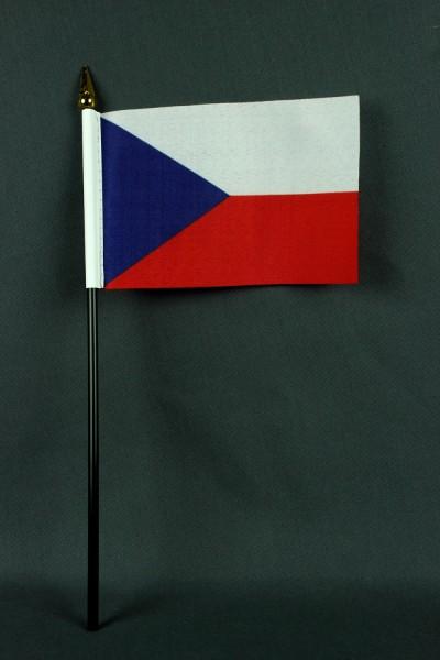 Kleine Tischflagge Tschechien 10x15 cm optional mit Tischfähnchenständer