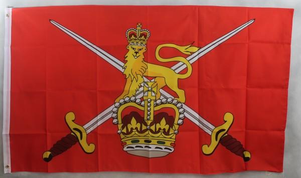 Flagge Fahne : British Army mit Schwerten und Löwe