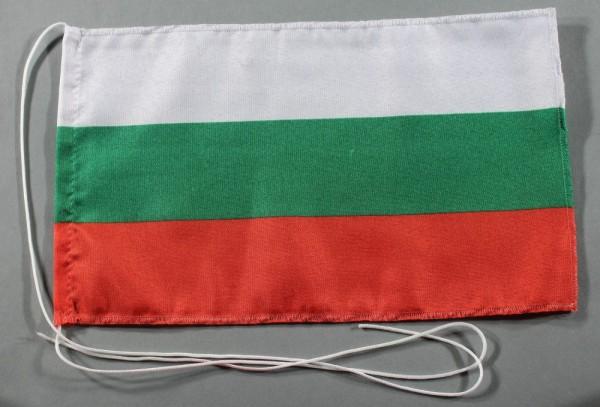 Tischflagge Bulgarien 25x15 cm optional mit Holz- oder Chromständer Tischfahne Tischfähnchen