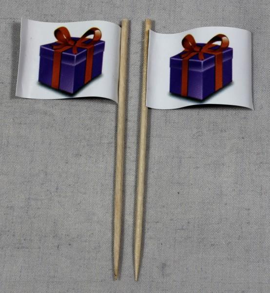 Party-Picker Flagge Geschenk Paket Papierfähnchen in Spitzenqualität 50 Stück Beutel