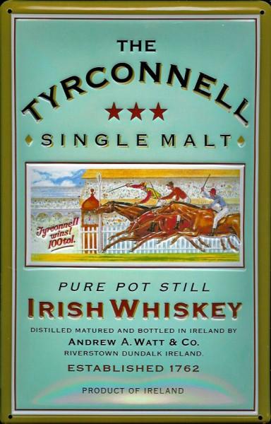 Blechschild Tyrconnell Whiskey Pferd Rennbahn Pferderennen Schild Whysky Werbeschild