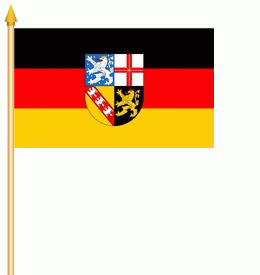 Stockflagge Saarland 30x45cm