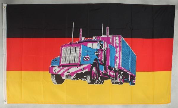 Flagge Fahne Deutschland mit LKW Truck