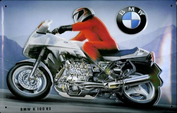 Blechschild BMW K 100 RS Motorrad Schild Nostalgieschild retro Schild Werbeschild