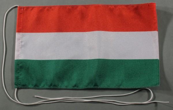 Tischflagge Ungarn 25x15 cm optional mit Holz- oder Chromständer Tischfahne Tischfähnchen