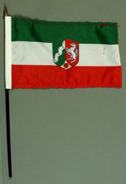 Tischflagge Nordrhein Westfalen NRW 15x25 cm BASIC optional mit Tischflaggenständer