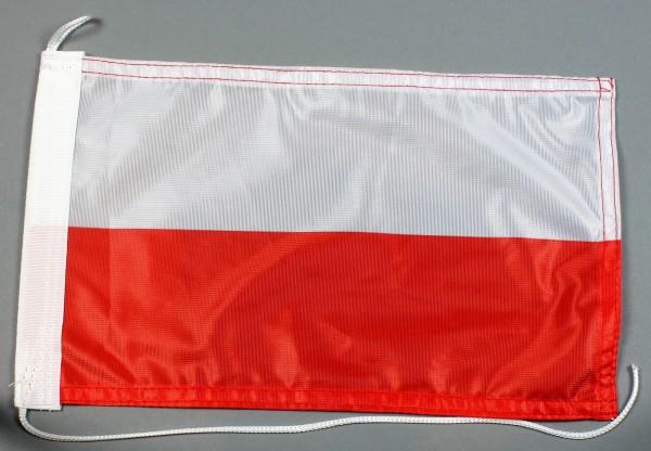 Bootsflagge : Polen 30x20 cm Motorradflagge