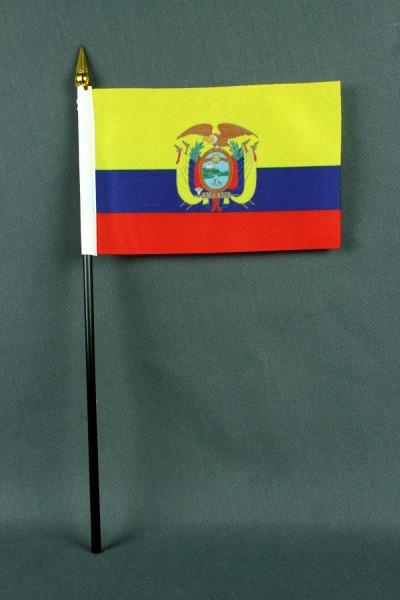 Kleine Tischflagge Ecuador 10x15 cm optional mit Tischfähnchenständer