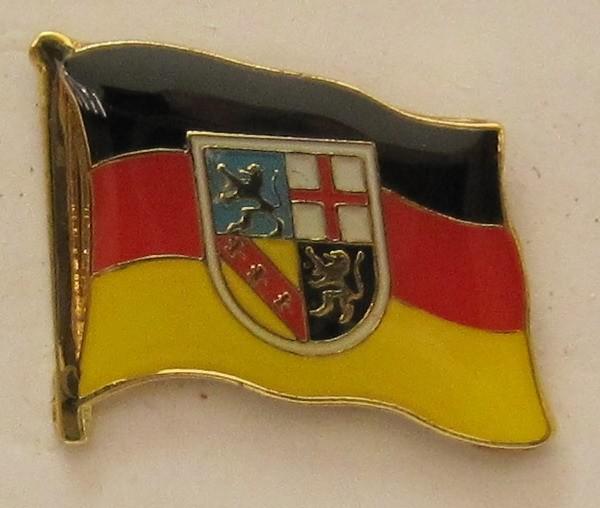 Pin Anstecker Flagge Fahne Saarland / Saar