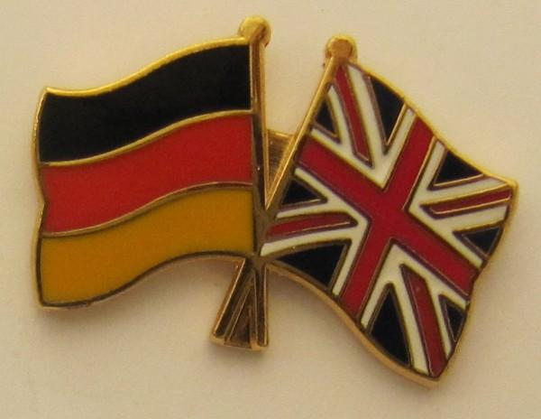 Großbritannien / Deutschland Freundschafts Pin Anstecker Flagge Fahne Nationalflagge