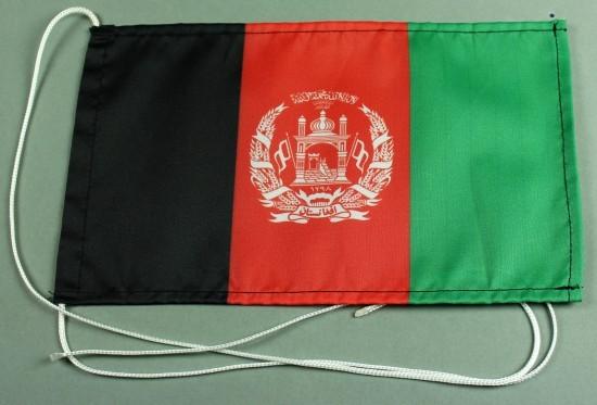 Tischflagge Afghanistan 25x15 cm optional mit Holz- oder Chromständer Tischfahne Tischfähnchen