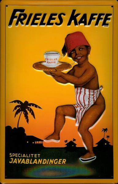 Blechschild Frieles Kaffe Java Kaffee Holland Schild Werbeschild Nostalgieschild