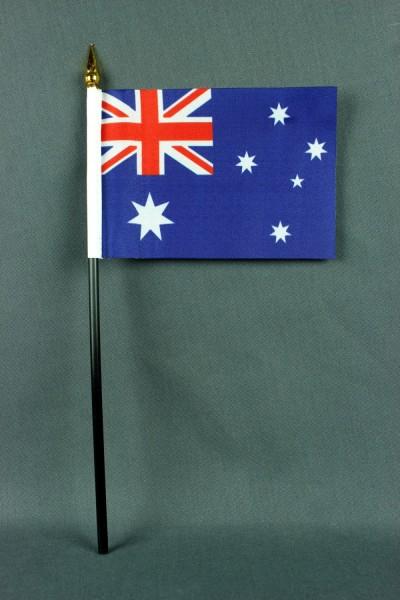 Kleine Tischflagge Australien 10x15 cm optional mit Tischfähnchenständer