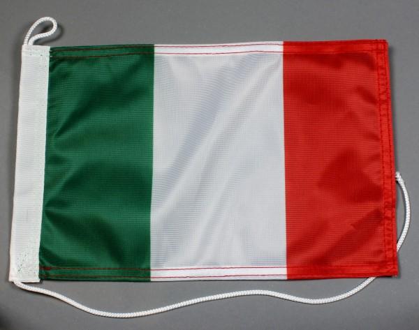 Bootsflagge : Italien 30x20 cm Motorradflagge