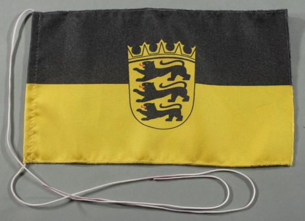 Tischflagge Baden Württemberg 25x15 cm optional mit Holz- oder Chromständer Tischfahne Tischfähnchen