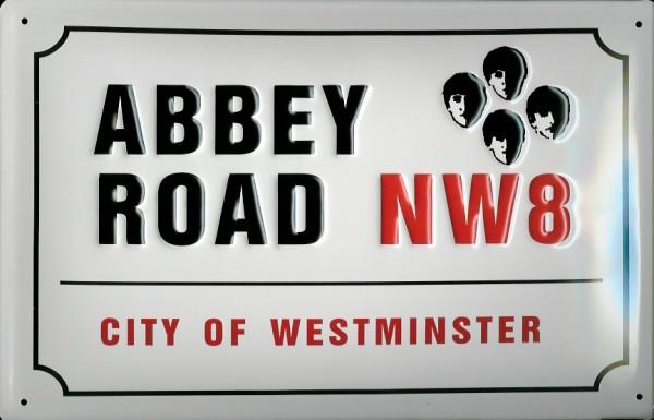 Blechschild Nostalgieschild Abbey Road NW8 London England Strassenschild