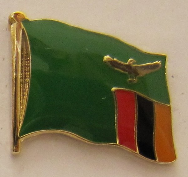 Sambia Pin Anstecker Flagge Fahne Nationalflagge