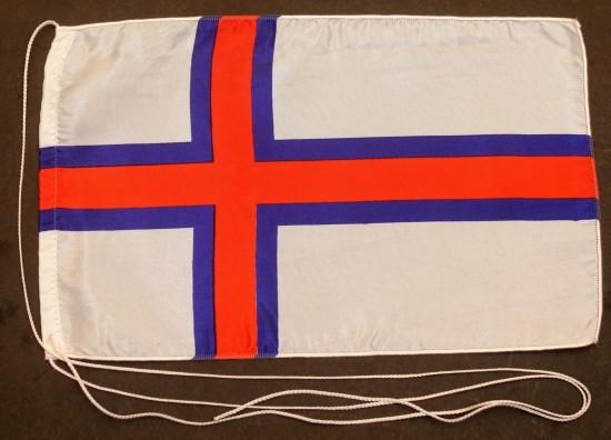 Tischflagge Faroer Inseln 25x15 cm optional mit Holz- oder Chromständer Tischfahne Tischfähnchen