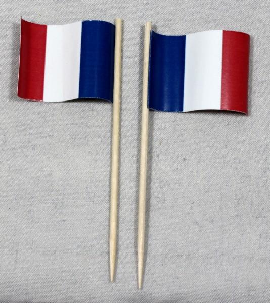 Party-Picker Flagge Frankreich Papierfähnchen in Spitzenqualität 50 Stück Beutel