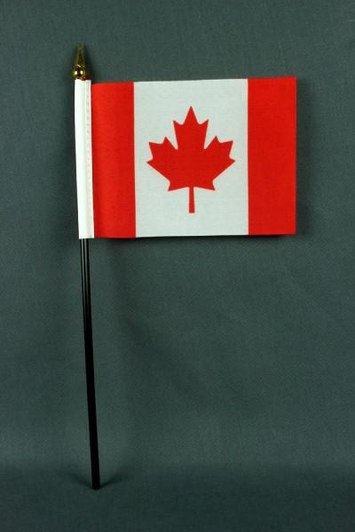 Kleine Tischflagge Kanada 10x15 cm optional mit Tischfähnchenständer