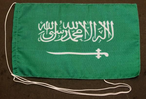 Tischflagge Saudi Arabien 25x15 cm optional mit Holz- oder Chromständer Tischfahne Tischfähnchen