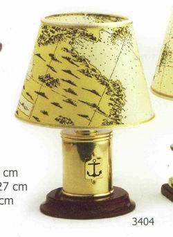 Tischlampe Messing mit Anker